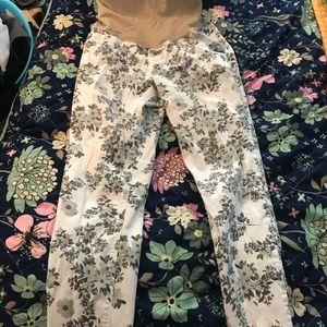 Motherhood maternity floral skinny jeans